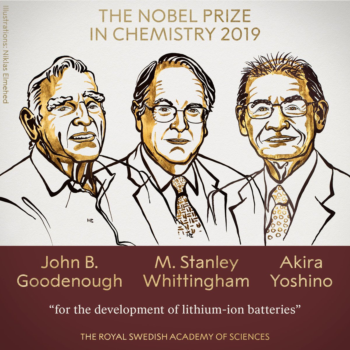 The Nobel Prize in Chemistry 2019 rewards the development of the lithium-ion battery