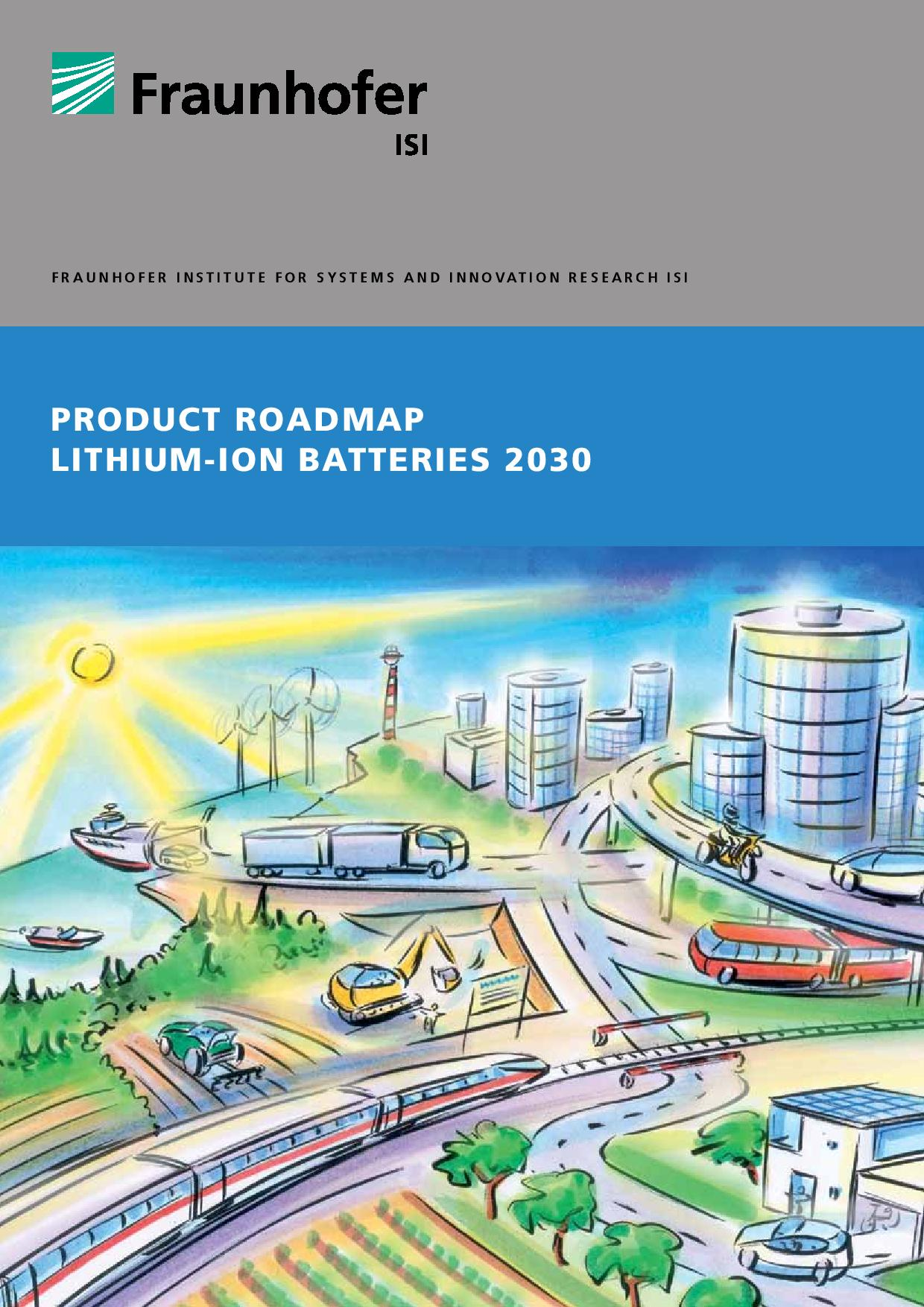 Product Roadmap Lithium-Ion Batteries 2030