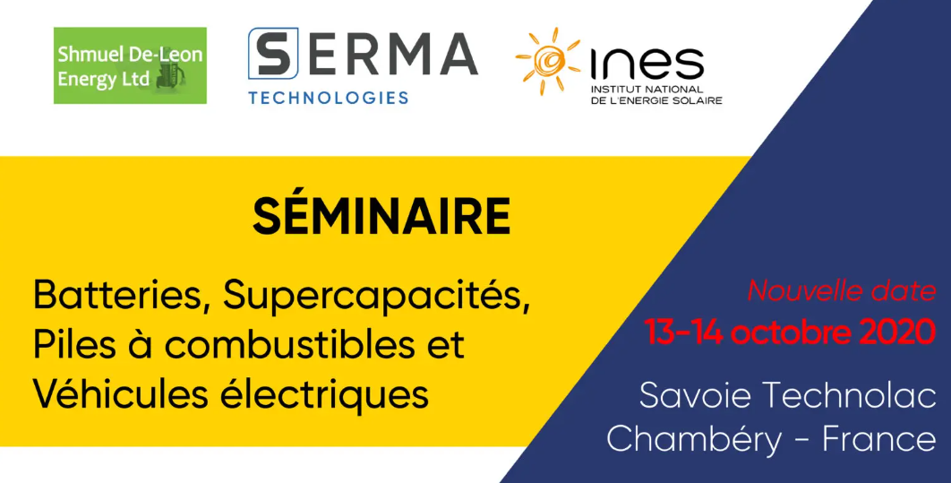 SAVE THE DATE ! SERMA 2020 Battery Seminar 13-14 OCTOBER