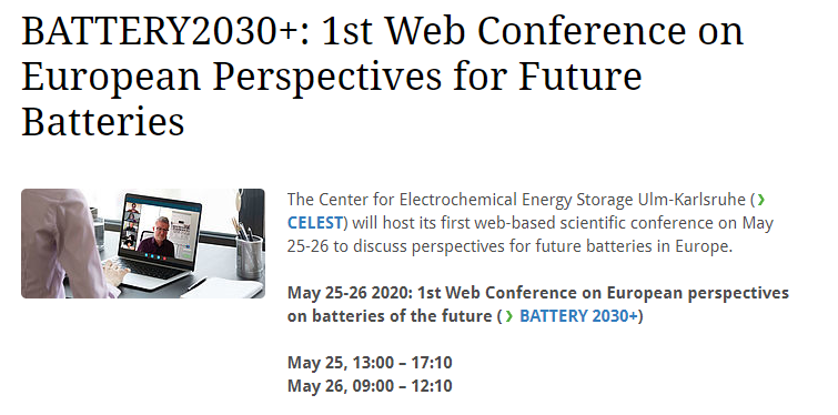 EUROPEAN PERSPECTIVES ON BATTERIES OF THE FUTURE