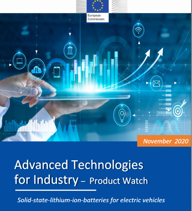 Advanced technologies for industry. Product watch : solid-state-lithium-ion-batteries for electric vehicles